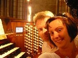 Paris, Notre Dame, with wife Agnieszka - July 2008