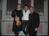 Foglo (Norway) with violonist Jorum Marie Kvernberg and wife Agnieszka, July 2010