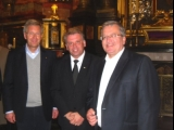 Cracow, St. Mary's Basilica, with German President Christian Wulff and President RP Bronislaw Komorowski, September 2011
