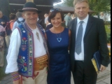 "Kroscienko nad Dunajcem, Festival of Music ""Pieniny-Kultura-Sacrum"" with my wife Agnieszka and Jan Kubik, July 2012"